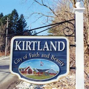 Kirtland City of Faith and Beauty Sign